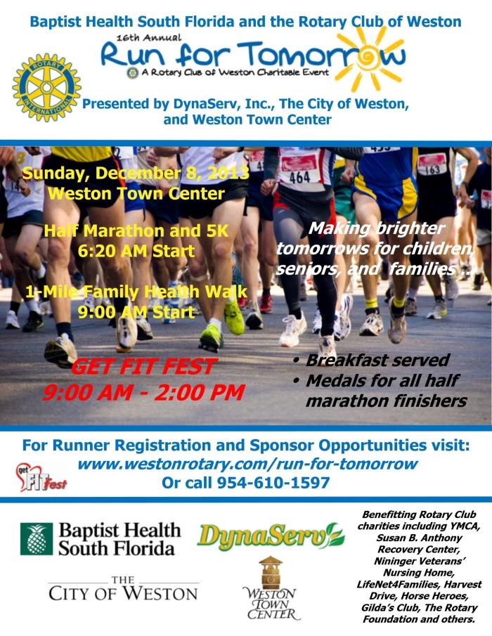 Weston Rotary Run 2013