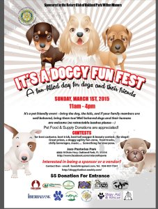 Doggy Fun Fest 2015 Flyer