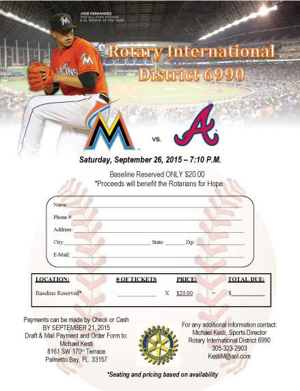 Rotary Marlins Fall 2015 Game - Sept 26 2015