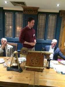 Speaking at the Rotary Club of Clapham