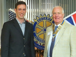 Taking a Picture with the Rotary Club of Northwick President