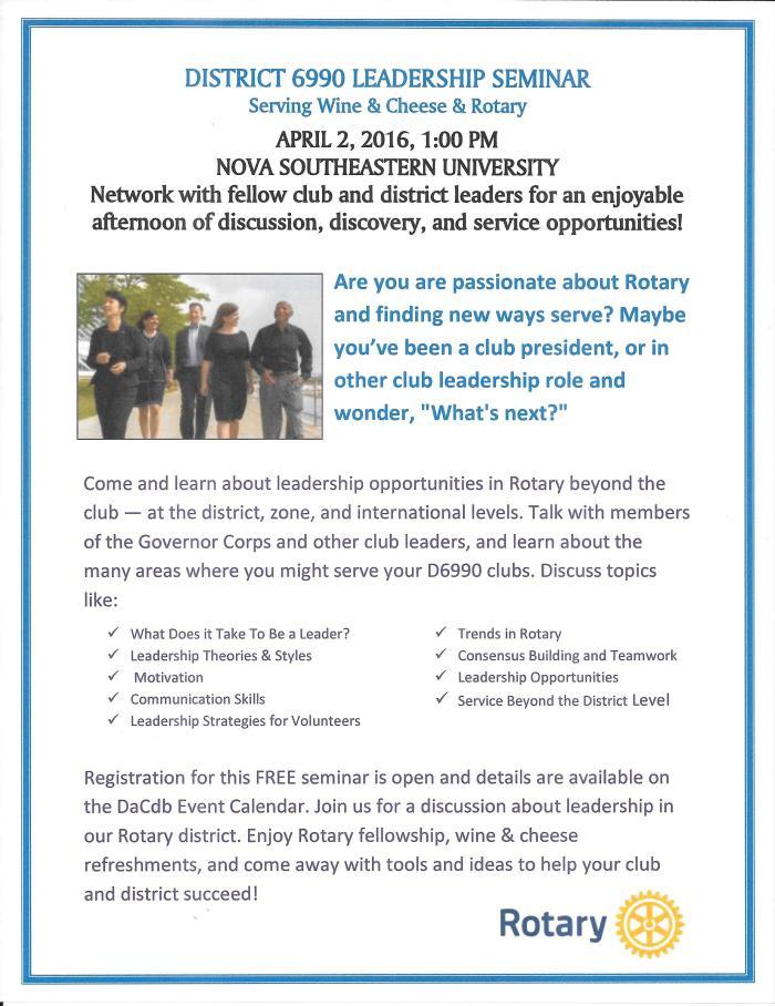Leadership Seminar Flyer